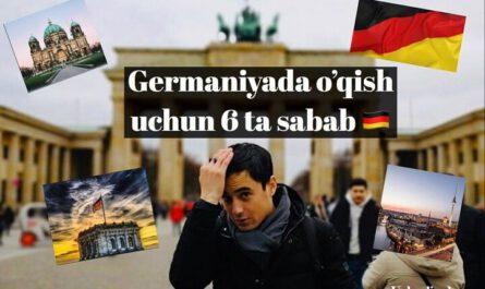 Germaniyada o'qish uchun 6 ta sabab